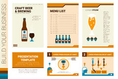 Craft beer book cover and presentation template Stock Images
