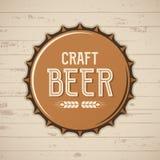 Craft beer bottle cap. Vector brewery logo, emblem, badge. Stock Photo