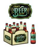 Craft Beer Bottles Illustration Stock Photos