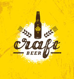 Craft Beer Brewery Artisan Creative Vector Stamp Sign Concept. Rough Handmade Alcohol Banner. Menu Page Design. Element On Stained Background Royalty Free Stock Photo