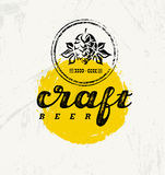 Craft Beer Brewery Artisan Creative Vector Stamp Sign Concept. Rough Handmade Alcohol Banner. Menu Page Design. Element On Stained Background Royalty Free Stock Photos