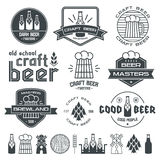 Craft beer brewery emblems Royalty Free Stock Images