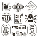 Craft beer brewery emblems Royalty Free Stock Photo