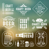 Craft beer brewery emblems Royalty Free Stock Photography