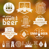 Craft beer brewery emblems Stock Images