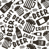 Craft beer brewery seamless pattern Stock Photo