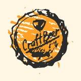 Craft beer cap pub sketch vector illustration. Vector Illustration