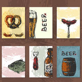 Craft beer cards vector Royalty Free Stock Images