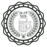 Craft beer. Craft beer concept sticker for pub or cafe concept logo Royalty Free Stock Photo