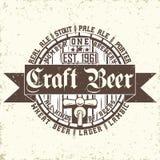 Craft beer emblem Royalty Free Stock Images