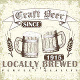 Craft beer emblem Stock Photo