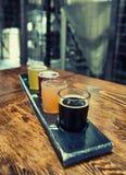 Craft Beer Flight Stock Photos