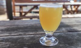 Craft Beer Glass. A Craft Beer from a Local Brewery on a Table stock photo