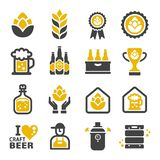 Craft beer icon หำะ. Craft beer icon set,vector and illustration stock illustration