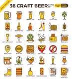 Craft Beer icons Stock Images