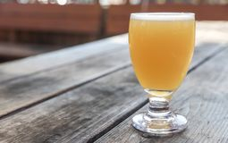 Craft Beer Glass. A Craft Beer from a Local Brewery on a Table stock images