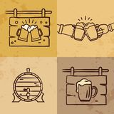 Craft beer logo collection, lettering vector illustration emblem design vector illustration
