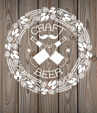 Craft beer logo Royalty Free Stock Images