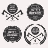Craft beer logo set Royalty Free Stock Photography