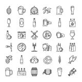 Craft Beer pixel-perfect icons in the modern style isolated on white background. stock illustration