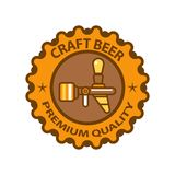 Craft beer premium quality logotype design isolated on white background Royalty Free Stock Images