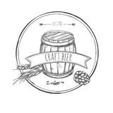 Craft Beer Sketch Concept Stock Image