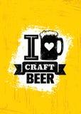 Craft Beer Sold Here Rough Banner. Vector Artisan Beverage Illustration Design. Concept On Grunge Distressed Background Royalty Free Stock Image