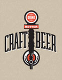Craft Beer Vector Design Royalty Free Stock Image