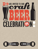 Craft Beer Vector Invitation Royalty Free Stock Photography