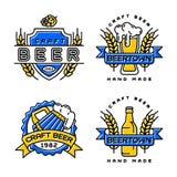 Craft beer vector set. royalty free illustration