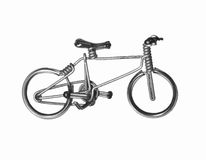 Craft bicycle Royalty Free Stock Images