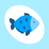 Craft blue fish animal nature food and ecology environment tropical natural thunnus icon  saltwater healthy big. Seafood nature art vector illustration. Bluefin Royalty Free Stock Photos