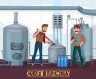 Craft Brewery Cartoon Illustration Royalty Free Stock Photo