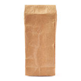 Craft brown paper pack for tea or coffee isolated over white background Royalty Free Stock Photography
