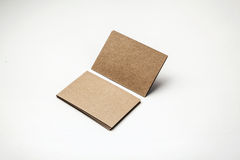 Craft business cards on a white background. Identity design, corporate templates, company style. Horizontal Royalty Free Stock Image