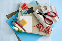 Craft and card stationary supplies Stock Photo