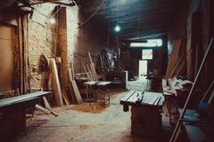 Craft Carpentry Workshop. Royalty Free Stock Image