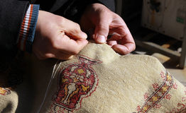Craft Of Carpet, Turkey. Royalty Free Stock Photos