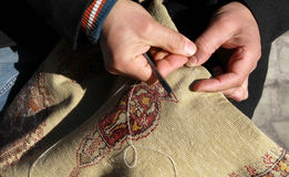 Craft Of Carpet, Turkey. Royalty Free Stock Image