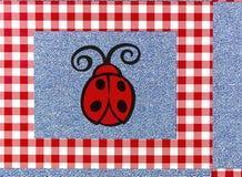 Craft cloth plaid design background Royalty Free Stock Photos