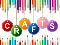 Craft Crafts Indicates Drawing Arts And Artwork. Craft Crafts Representing Art Design And Draw royalty free illustration
