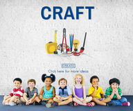 Craft Craftsman Instrument Tools Equipment Concept Royalty Free Stock Images