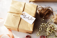 Craft Design Simplify Wrapping Gift Concept Royalty Free Stock Image