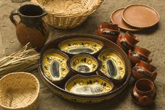 Craft dishes made in Michoacan Stock Photo