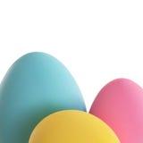 Craft easter egg border Royalty Free Stock Image