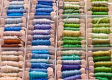 Craft embroidery and sewing threads Royalty Free Stock Photography
