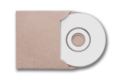 Craft envelope with cd disk Stock Image