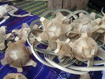 Craft Flower made from bamboo basketry Stock Image