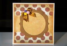 Craft frame Royalty Free Stock Photo