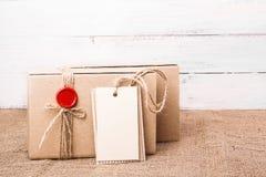 Craft gift box Stock Image